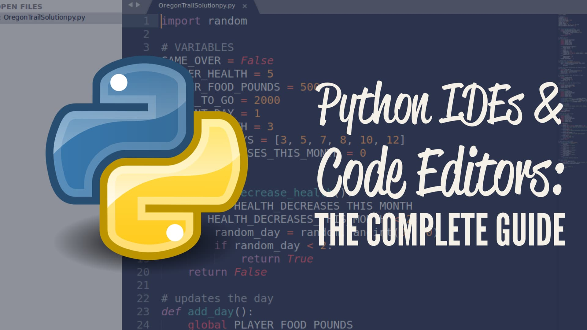 Python IDEs and Code Editors (Guide)